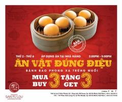 San Fu Lou khuyến mãi mua 3 tặng 3 bánh bao phong xa trứng muối