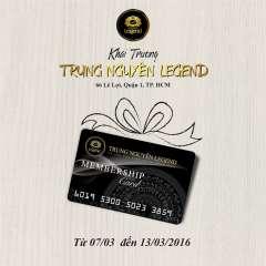 [TPHCM] Khuyến mãi khai trương Trung Nguyên Legend 66 Lê Lợi