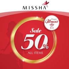 MISSHA mừng ngày 8.3 giảm giá 50% tất cả sản phẩm
