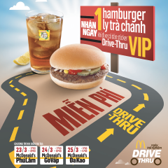 McDonald's khuyến mãi Sticker VIP Drive-Thru – tặng MIỄN PHÍ Hamburger và nước