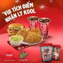 Texas Chicken khuyến mãi tích điểm đổi ly sứ Kool
