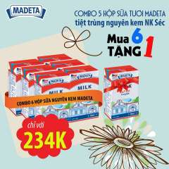 [Hà Nội] Sữa tươi Madeta khuyến mãi mua 6 tặng 1 mừng 8.3