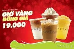 Passio Coffee khuyến mãi Giờ vàng đồng giá 19k tháng 4/2016