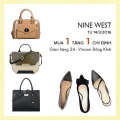 Nine West outlet Vincom Đồng Khởi khuyến mãi mua 1 tặng 1