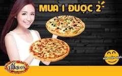 """Mua 1 tặng 1 pizza cùng size"" giòn ngon, nóng hổi từ Al Fresco's"