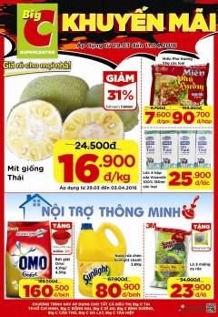 Siêu khuyến mại từ hệ thống siêu thị Big C 29.03- 11.04.2016!