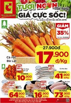 Tuần lễ Siêu giảm giá Big C- Tươi ngon mỗi ngày- Giá cực sốc!