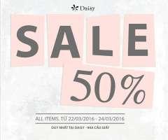 CRAZY SALE với mức chiết khấu 50% tại Thời Trang Daisy