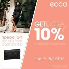 ECCO ưu đãi dịp 8-3 và tặng quà sành điệu với hóa đơn từ 5 triệu