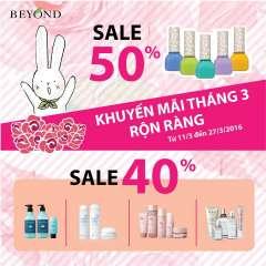 Eco Beyond khuyến mại tháng 3- Ưu đãi tới 50% nhiều dòng sản phẩm