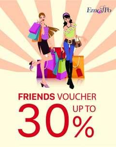 EMSPO Giảm đến 30%- Friends Voucher- Mua cùng, ưu đãi cùng!