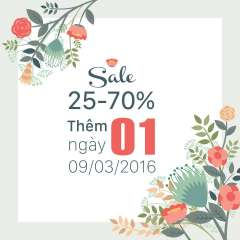 Thời Trang EMSPO thêm 1 ngày ưu đãi 25% BST Xuân hè