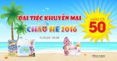 Đại tiệc khuyến mại chào hè giảm tới 50% tại Shop Trẻ Thơ