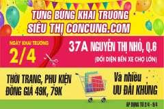 [Mẹ&bé] Concung.com khai trương cơ sở mới - Nhiều quà tặng và ưu đãi khủng