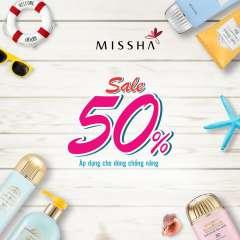 Mỹ phẩm MISSHA giảm giá 50% son và kem chống nắng