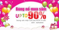 Giảm giá đến 90% - Mừng sinh nhật TutiCare HCM 4 tuổi