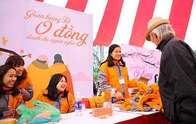 Phiên chợ Tết 0 đồng cho người nghèo được tổ chức tại công viên Thống Nhất