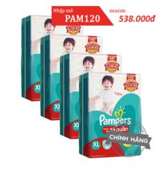 Tiết kiệm 140k với mã PAM140 khi mua combo 4 bỉm Pampers giá chỉ 656.000 đồng