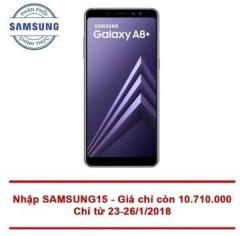 Mã giảm giá 400k Samsung Galaxy A8+ 64GB Tím Xám chính hãng tại ADAYROI
