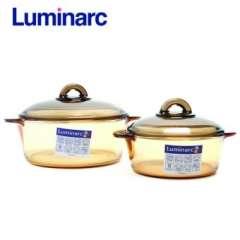 Tiết kiệm được 49% mua ngay bộ 2 nồi thủy tinh Luminarc Amberline 3L/5L