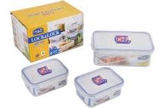 Sale 50%++ bộ 3 hộp bảo quản thực phẩm Lock&Lock giá chỉ 89k