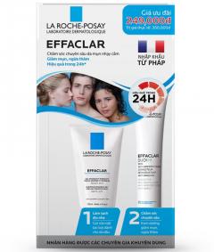 Đồng giá 159k bộ sản phẩm chăm sóc da mụn La Roche Posay Effaclar