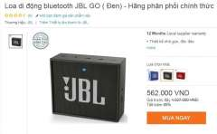 [Rẻ nhất thị trường] Loa di động bluetooth JBL GO ( Đen) chỉ còn 562.000đ