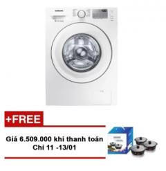 Mã giảm giá 1 triệu đồng + Tặng Bộ 3 nồi sứ Donghwa trị giá 616.000 VNĐ cho khách hàng mua máy giặt cửa trước Samsung WW70J4233KW Digital Inverter 7.0kg