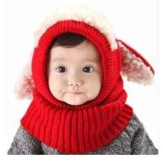 Chỉ với 69k Bộ mũ liền khăn len tai cừu cho bé yêu từ 5 tháng đến 4 tuổi
