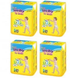 Chỉ 732k được combo 4 gói tã quần Unidry size L54, 54 miếng cho bé từ 9-13kg
