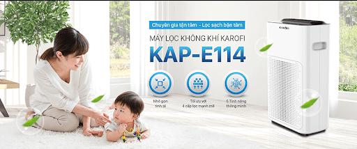 Máy Lọc Không Khí và tạo ẩm Karofi KAP E114 chính hãng