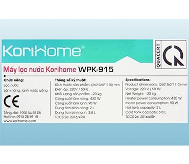 Máy Lọc Nước Nóng Lạnh Korihome WPK-915