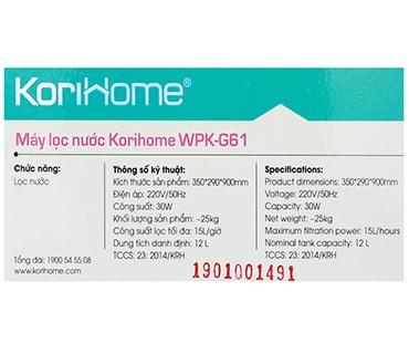 Máy Lọc Nước Cao Cấp Korihome WPK G61