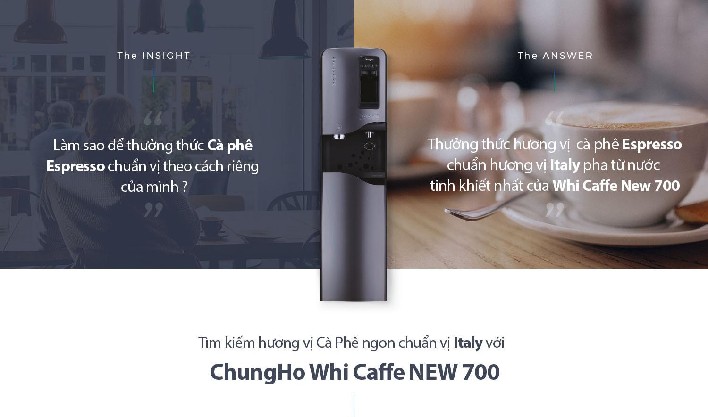 Máy Lọc Nước ChungHo New Whi Caffe 700