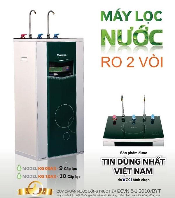 Máy lọc nước Kangaroo KG10A3 10 cấp lọc 2 vòi