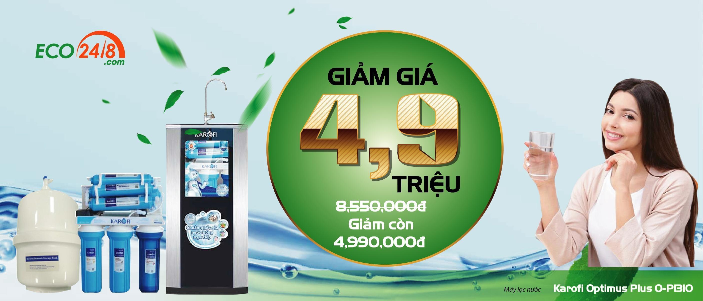 Máy lọc nước Karofi giảm giá tới 4.900.000 đ