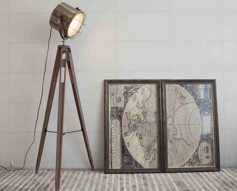Đèn cây trang trí phòng khách, đèn cây trang trí góc sofa, đèn cây gỗ giá rẻ