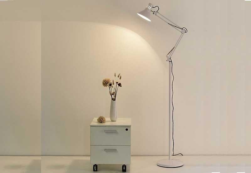 Đèn cây đứng đọc sách cao cấp - Đèn cây trang trí phòng khách giá rẻ - Đèn cây phòng khách hiện đại