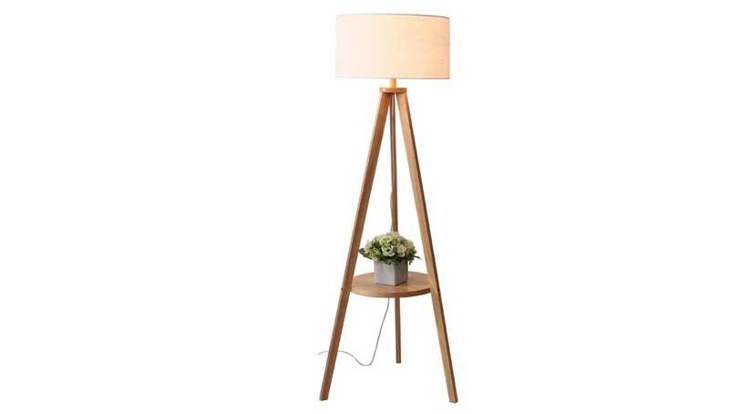 Đèn cây trang trí phòng khách gỗ - Đèn cây đứng trang trí chân gỗ - Đèn cây gỗ cao cấp