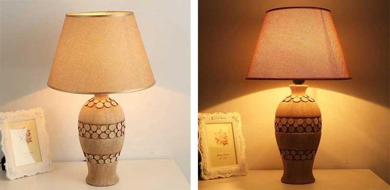 Đèn gốm để bàn HT17 phong cách cổ điển cho phòng ngủ