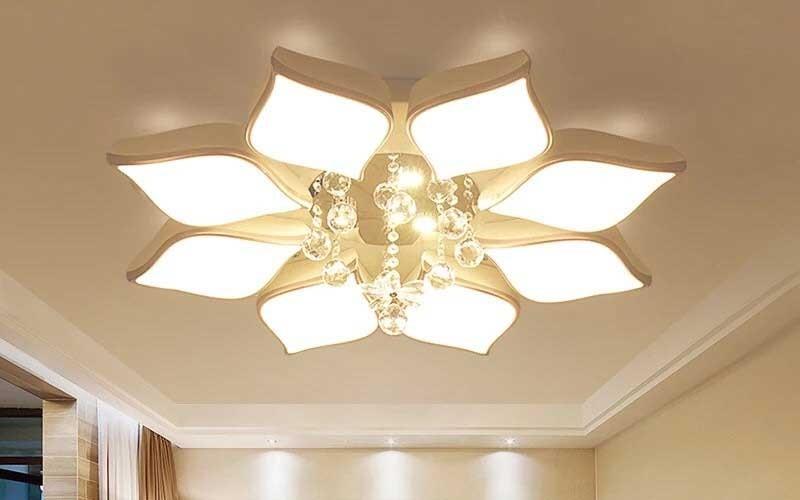 Mẫu đèn ốp trần led, đèn led ốp trần phòng khách hiện đại siêu sáng
