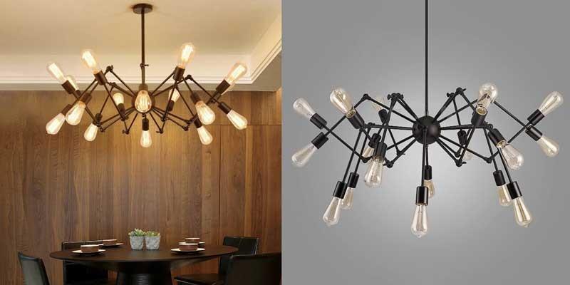 Đèn thả bàn ăn chia nhánh - Mẫu đèn treo bàn ăn hiện đại