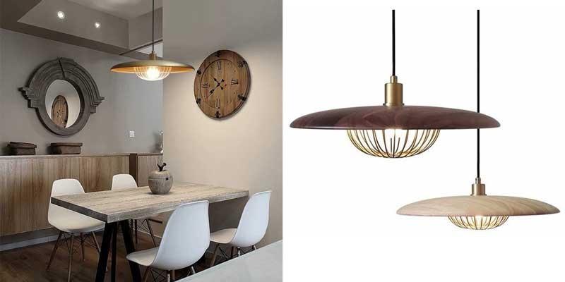 Đèn thả bàn ăn đẹp -Mẫu đèn thả trang trí phòng ăn gỗ