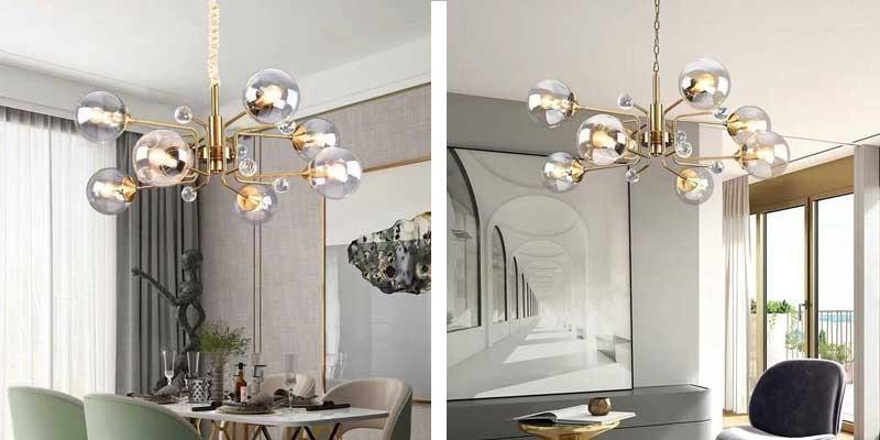 Đèn thả bàn ăn anson thủy tinh -Đèn trang trí bàn ăn thả trần anson thủy tinh