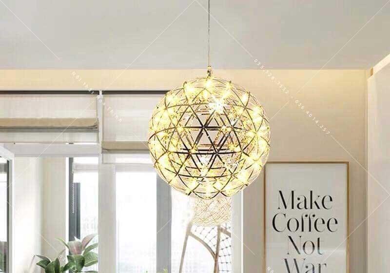 Đèn thả trần phòng khách hiện đại hình cầu D40