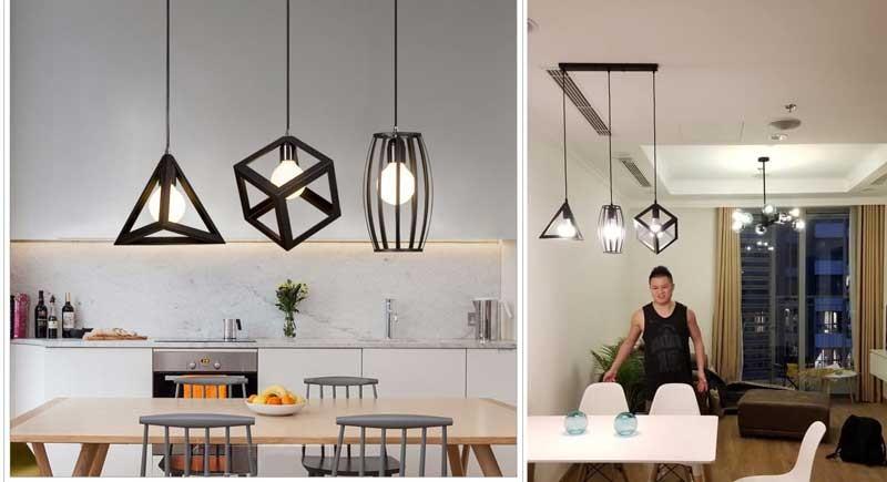 Đèn thả trần trang trí quán cafe, đèn thả trang trí trần quán cafe