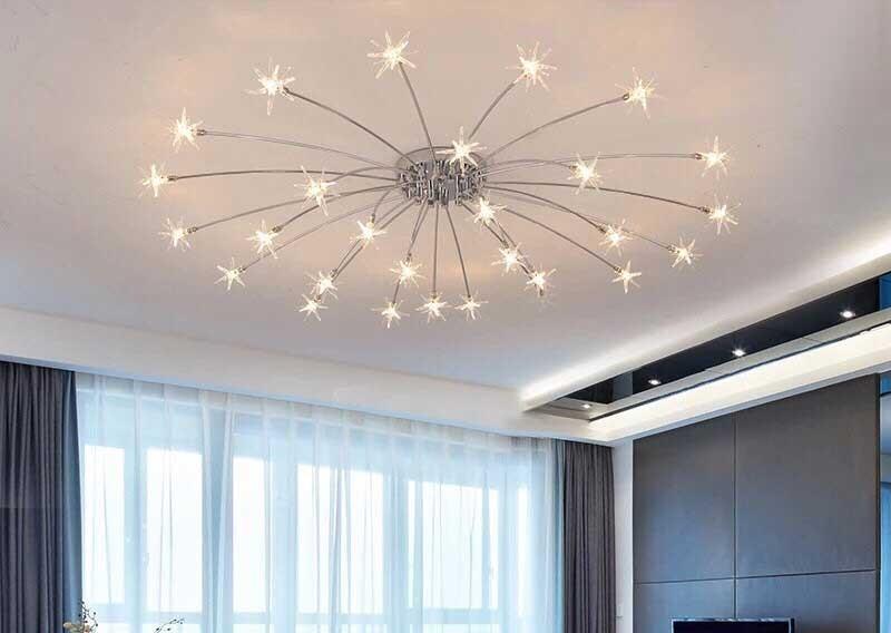 Đèn thả phòng ngủ decor sao băng - Đèn decor treo trần phòng ngủ sao băng