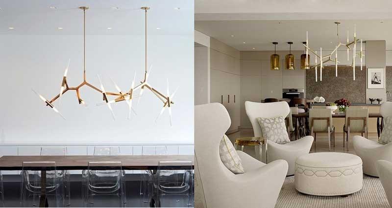 Đèn thả phòng ngủ hiện đại 10 bóng - Đèn trang trí thả trần phòng ngủ đơn giản