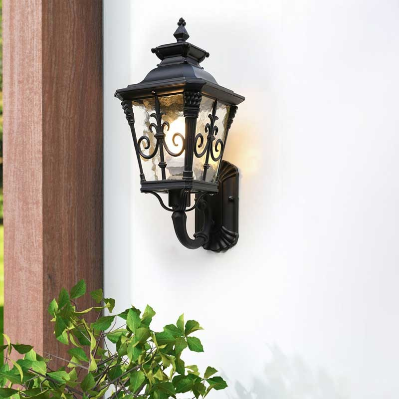 đèn tường trang trí ngoài trời cổ điển