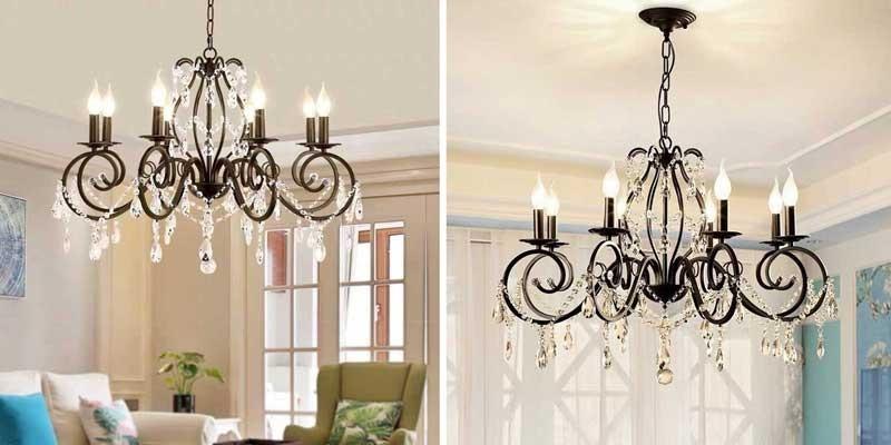 Đèn chùm phòng khách chung cư cổ điển - Đèn trang trí phòng khách chung cư